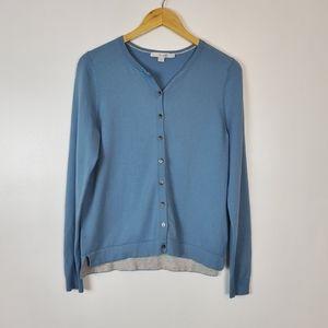 Boden blue cardigan medium EUC